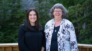 A photo of incoming Executive Director Sophie Kirby and outgoing Executive Director, Rosella Stoesz